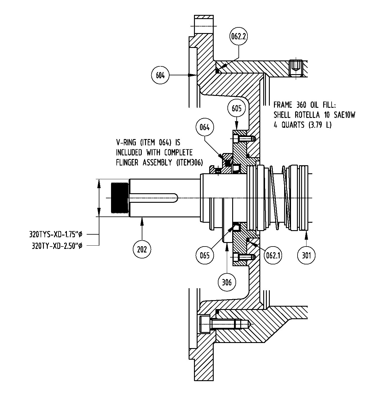 320TYS-XD / Frame 320TY-XD ISS Motor