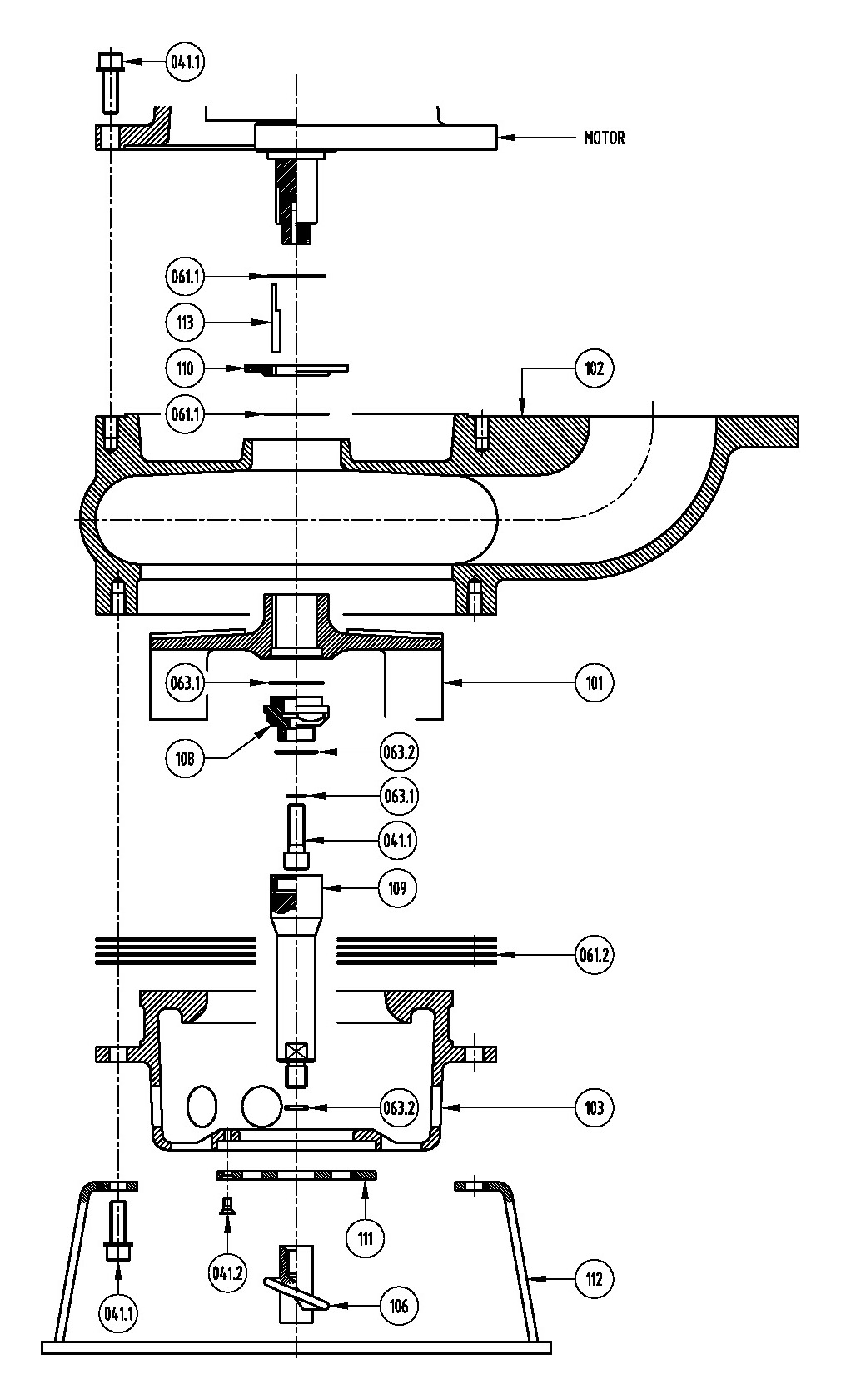 Series TBM-XD150LH Type PBO Parts Fiche